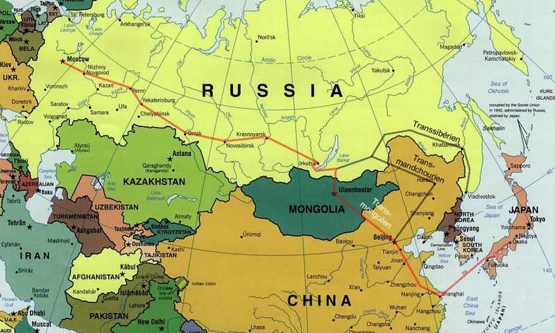 mongolie sur la carte du monde